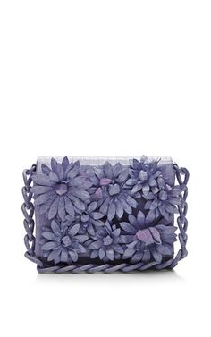 Lavender Crocodile Skin Shoulder Bag by Nancy Gonzalez for Preorder on Moda Operandi Purple Fashion, Flower Fashion, Fashion Bags, Purple Accessories, Purple Jewelry, Purple Purse, Purple Bags, Embellished Purses, Nancy Gonzalez