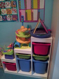Kids storage from Ikea.... this can be a good DIY