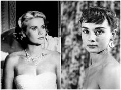 Grace and Audrey tied for our 1950s style icons #GraceKelly #AudreyHepburn