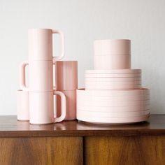 Vintage Melamine Tableware Set  design by Vignelli for Heller