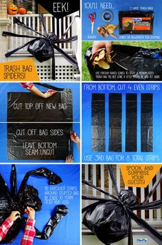 Be the ultimate Halloween decorator. Learn how to make these fun Trash Bag Spiders!
