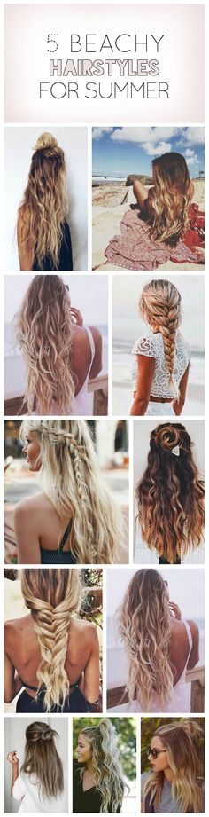 Hair Tutorials 5 Beachy Hairstyles For Summer GlamFashion - hairstyles for school summer hairstyles for school picture day Easy Summer Hairstyles, Braided Hairstyles, Cool Hairstyles, Latest Hairstyles, Hairstyles For Beach, Hairstyles 2018, Hairstyle Ideas, Wedding Hairstyles, Dancer Hairstyles