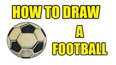 How To Draw A Football | Drawing Lessons