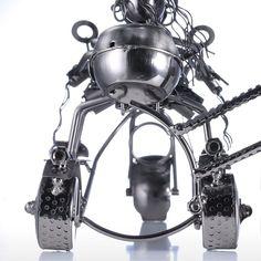 Punk Motorcycle Wine Rack Tooarts Home Decoration Handicraft Modern Sculpture Gift