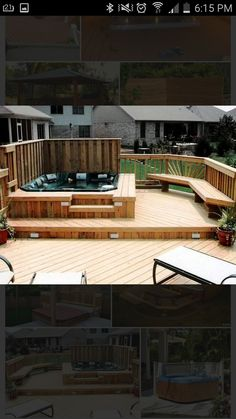 25 Awesome Hot Tub Design Ideas | Pinterest | Log cabins, Cabin and Logs