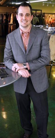 Josh wearing his Zegna sportcoat.