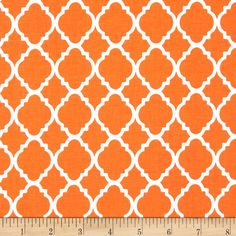This cotton print is perfect for quilting, apparel and home decor accents.  Colors include orange and white.