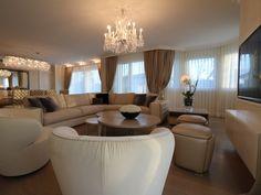 Fertigstellung - 23.12.2015 - Wohnzimmer - Möbel FENDI, VISIONNAIRE - Beleuchtung BACCARAT, FENDI - Vorhänge HERMÈS - http://decoris.ch/portfolio-item/villa-goldkueste-zuerich/