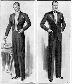 English full and dinner dress, 1934. BlackTieGuide.com