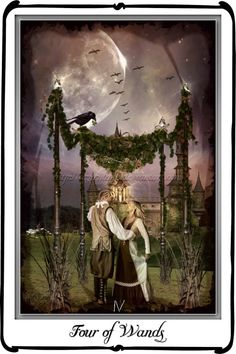 Tarot-Four of Wands Mystic Dreamer Tarot