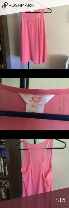 🚩SOLD🚩 NWOT Size M Joe Fresh Tank Purchased this brand new on poshmark and it's been sitting in my closet and needs to be worn by someone!! So cute and comfy. Joe Fresh Tops Tank Tops