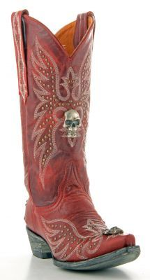 Men's cowboy boots with skulls on them   Mens Old Gringo Hitchcock ...