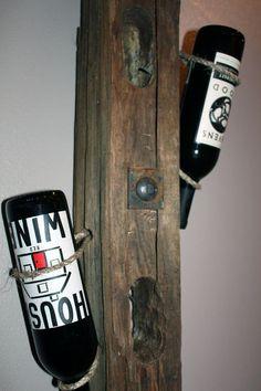 Reclaimed Wood Wine Rack Handmade by RootIndustries on Etsy, $79.00