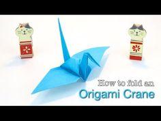 Paper Crane: How to make a Paper Crane. Easy Origami Crane tutorial, by ...