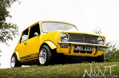 Yellow Classic Mini Clubman 1275 GT by NWVT.co.uk, via Flickr Mini Cooper Clubman, Mini Cooper S, Classic Mini, Classic Cars, Mini Morris, British Steel, Mini S, Retro Cars, Amazing Cars