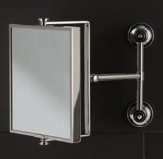 RH's Grafton Extension Mirror:Meticulously crafted using the finest materials, Grafton is a seamless marriage of efficient function and sleek style.