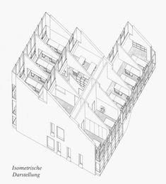 ERNST GISEL / ATELIERHAUS, ZÜRICH / 1974 Floor Plans, Diagram, Drawings, Illustration, Blog, Atelier, Architecture, House, Illustrations