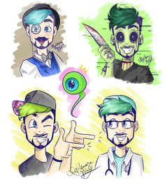 Ego doodles by NigthmareWolf on DeviantArt Jacksepticeye Fan Art, Markiplier, Pewdiepie, Mark And Ethan, Jack And Mark, Darkiplier And Antisepticeye, Septiplier, Epic Art, Alter Ego