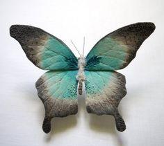 Beuatiful craft idea! Textile Moths and Butterflies by Yumi Okita