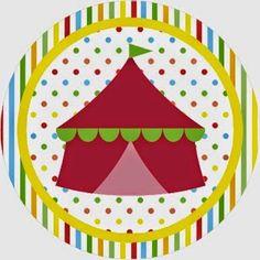 El Circo: Invitaciones y Etiquetas para Candy Bar para Imprimir Gratis.