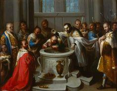 Escena de la vida de san Francisco Xavier (El bautismo de los infieles - Museo Nacional de Arte de México).