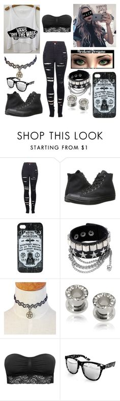 """""""Untitled #59"""" by one-summer-of-direction ❤ liked on Polyvore featuring 2LUV, Vans, Converse, Misbehave, M&S and Aquaswiss"""