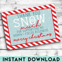 Rodan + Fields Christmas Thank You Card | INSTANT DOWNLOAD