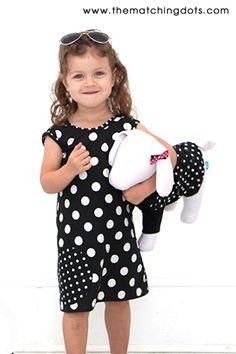#summer #dress #dog #clothes #canine #fashion #www.thematchingdots.com #polkadots #blackandwhite #dots
