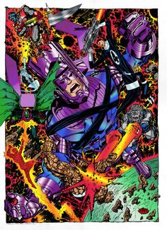 The Fantastic Four and the Silver Surfer VS Galactus, Terrax, Blasstar and Annihilus