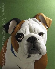English BULLDOG Paper Sculpture. How cool is this. It combines two things i love, art and english bulldogs
