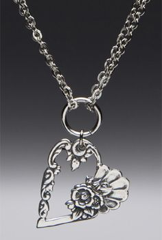 Louise Heart Pendant Necklace   Silver Spoon Jewelry