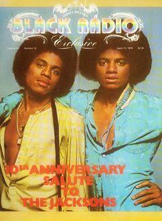 Marlon and Michael Jackson on the cover of Black Radio, April 1979.