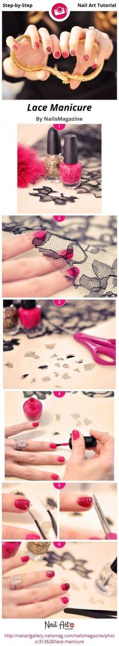 manicure encaje