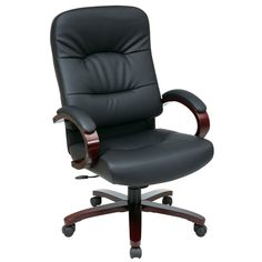 Office Star Products Work Smart Eco High Contour Executive Chair