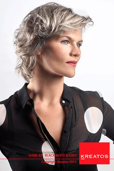 Kreatos kappers - hair women 2016 - Black White & Grey - beauty, hair & fashion