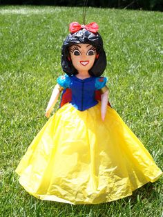 Snow White (Princess) Pinata. $50.00, via Etsy.  I love this, but don't think I could bring myself to beat it with a stick!  This would have to be just for looks!
