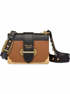 e0d7a414c78c PRADA PRADA CAHIER LEATHER SHOULDER BAG BROWN. #prada #bags #shoulder bags #