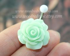 Hey, I found this really awesome Etsy listing at https://www.etsy.com/listing/200013416/flower-belly-button-ring-green-flower