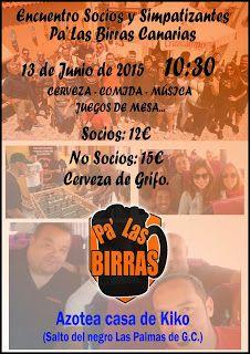 """Pa' Las Birras: I Reunión socios y simpatizantes """"verano"""" 2015"""