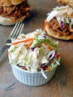 I cut the sugar down to two large tablespoons for this coleslaw recipe. Two cups of sugar makes it too sweet for me. Perfect!!!