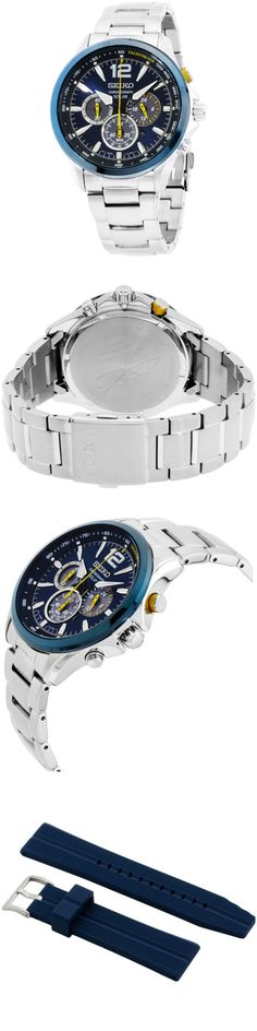 Wristwatches 31387: Seiko Special Edition Blue Dial Stainless Steel Men S Watch Ssc505 -> BUY IT NOW ONLY: $242.99 on eBay!