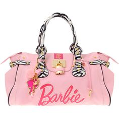 Paul's Boutique Loves Barbie Zebra Trim Padlock Bag ($108) ❤ liked on Polyvore featuring bags, handbags, shoulder bags, barbie, purses, accessories, bolsas, accessories wbbags, womenswear and handbags shoulder bags