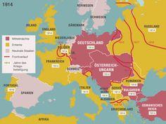 Der Erste Weltkrieg in Europa