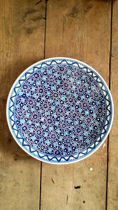Hand Made Turkish Ceramic Plate - iznik by Turqu50