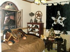 pictures to draw of cowboys and horses on bedroom walls for a boys  | Cowboy Room, This is my son's room who wanted a cowboy theme! He is 4 ...
