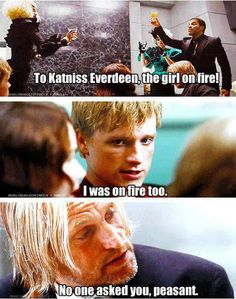 Lol haha funny pics / pictures / Hunger Games Humor / Peeta / Katniss / Haymitch Informations About Lol haha funny pics / pictures / Hunger Games Humor / Peeta / Katniss / Haymitch Pin You can easily Hunger Games Memes, The Hunger Games, Divergent Hunger Games, Hunger Games Fandom, Hunger Games Catching Fire, Hunger Games Trilogy, Divergent Songs, Hunger Games Haymitch, Catching Fire Quotes