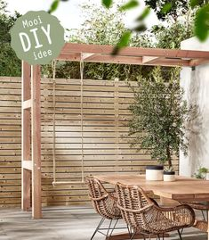 The pergola kits are the easiest and quickest way to build a garden pergola. There are lots of do it yourself pergola kits available to you so that anyone could easily put them together to construct a new structure at their backyard. Diy Pergola, Pergola Canopy, Pergola Swing, Wooden Pergola, Outdoor Pergola, Outdoor Spaces, Outdoor Living, Outdoor Decor, Pergola Ideas
