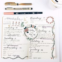 """206 Likes, 10 Comments - Clara Canul (@craftedbyclara) on Instagram: """"Week 2 of my fitness-and-food bullet journal is complete. I experimented with floral-inspired…"""""""