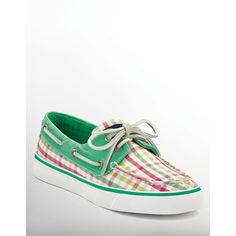 Sperry Bahama Plaid Boat Shoes found on Polyvore
