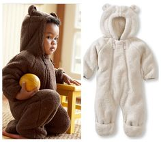 Fleece Bear | 36 Onesies For The Coolest Baby You Know - Keep your baby warm and ridiculously adorable. Does this come in adult size? Find it here for $49.95.